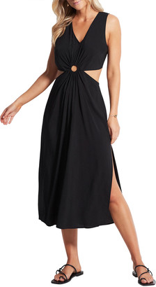 Seafolly Cut-Out Midi Dress