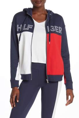 Tommy Hilfiger Cotton Blend Zip Front Jacket