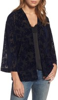 Hinge Women's Burnout Velvet Kimono Jacket