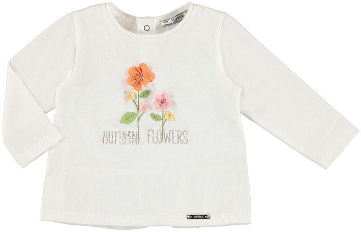 Mayoral Long-Sleeve Autumn Flowers T-Shirt, Size 6-36 Months