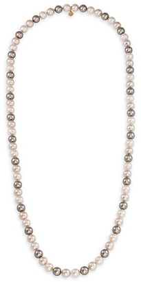 Majorica 10MM Tri-Tone Organic Man-Made Pearl Long Necklace