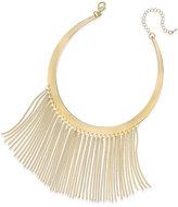 Thalia Sodi Gold-Tone Fringe Drama Collar Necklace, Only at Macy's