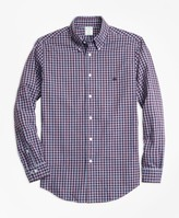 Brooks Brothers Milano Fit Brushed Oxford Gingham Sport Shirt