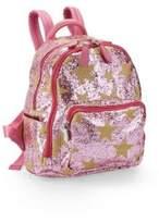 Bari Lynn Pink Star Glitter Backpack