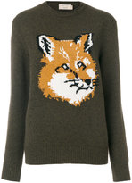 MAISON KITSUNÉ fox motif jumper - women - Lambs Wool - S