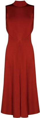 Victoria Beckham Draped Cutout Dress