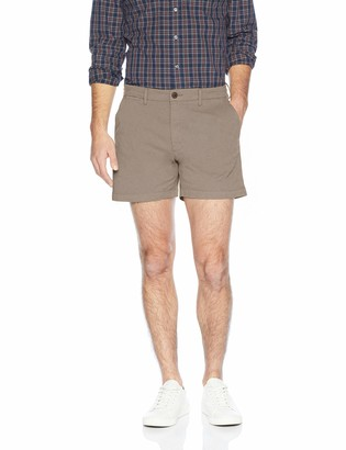 "Goodthreads Men's Slim-Fit 5"" Inseam Flat-Front Comfort Stretch Chino Shorts"