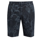 Etro Floral-print linen shorts