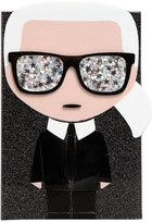 Karl Lagerfeld K/Ikonik Glittered Pvc Box Clutch