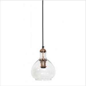Light & Living - Dela Glass & Copper Pendant Light - Glass/Copper