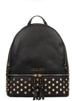 Michael Kors Black Rhea Hammered Leather Backpack
