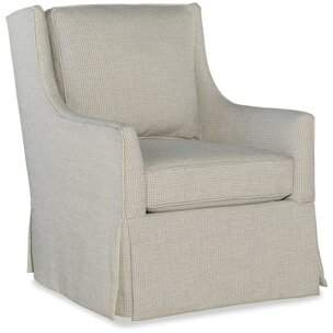 SAM. Moore Hand Over Heart Swivel Armchair Moore