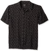Obey Men's Bryson Short Sleeve Button up Woven Shirt