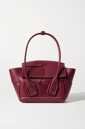 Bottega Veneta Arco Mini Intrecciato Leather Tote - Burgundy
