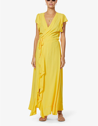 Melissa Odabash Brianna ruffled woven maxi dress