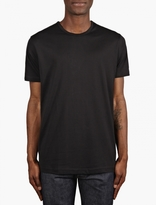 Sunspel Black Short Sleeve Crew Neck T-shirt