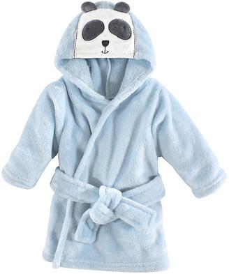 Hudson Baby Boys' Bath Robes Modern - Blue Panda Hooded Bathrobe - Newborn