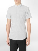 Calvin Klein Xfit Ultra Slim Fit Diamond Print Short Sleeve Shirt