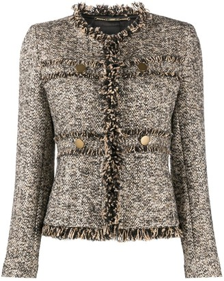 Seventy Frayed Trim Tweed Jacket