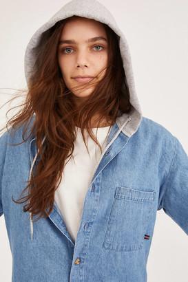 Urban Renewal Vintage Recycled Chambray Hooded Shirt