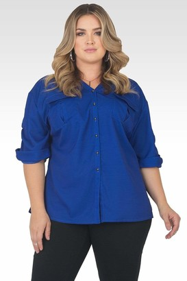 Standards & Practices Lola Utility Top in Blue Size 1X