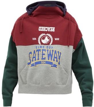 Vetements Bad Gateway Deconstructed Hooded Sweatshirt - Womens - Multi