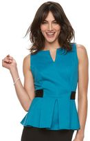 Elle Women's ELLETM Pleated Peplum Top