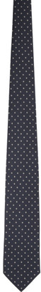 Brioni Navy Silk Dot Tie