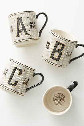 Anthropologie Tiled Margot Monogram Mug By in Size A