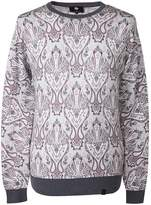Cotton Paisley Print Knitted Jumper