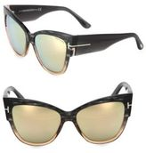 Tom Ford Anoushka 57MM Mirrored Cat Eye Sunglasses