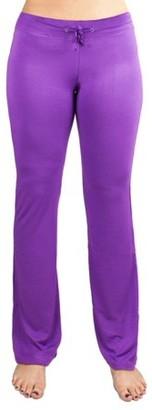 Crown Sporting Goods Soft & Comfy Yoga Pants, 95% Cotton/5% Spandex, Purple S