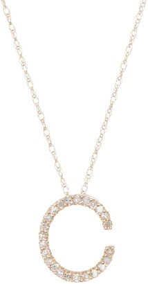 Ron Hami Large Diamond Letter Slider Necklace - Multiple Letters Available