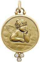 Temple St. Clair 18K Yellow Gold Angel Pendant with Diamond Granulation