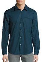 John Varvatos Slim-Fit Plaid Button-Down Shirt