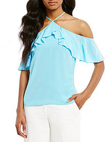 Antonio Melani Amber Silk Cold Shoulder Blouse