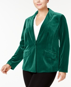 INC International Concepts Inc Plus Size Velvet Blazer, Created for Macy's