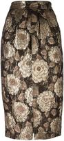 Christian Pellizzari floral jacquard skirt