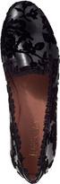 RED Valentino Velvet Rose Loafer Black Leather