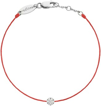Redline Single Diamond Red Illusion White Gold Bracelet