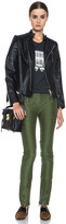 3.1 Phillip Lim Skinny Cargo Cotton Pant in Army Green