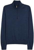 Paul Smith Dark Blue Fine-knit Wool Jumper