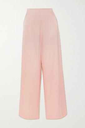 PARIS GEORGIA Marnie Satin Wide-leg Pants - Blush