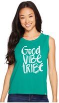Life is Good Good Vibe Tribe Muscle Tee Women's Sleeveless