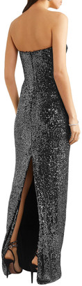 Naeem Khan Strapless Sequin-embellished Tulle Gown