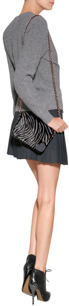 J.W.Anderson Cotton Twill Pleated Skirt in Indigo