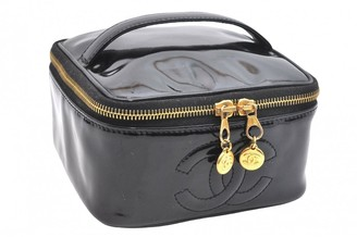 Chanel Black Patent leather Travel bags