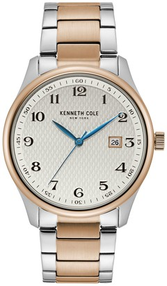 Kenneth Cole New York Men's Stainless and Rosetone Watch