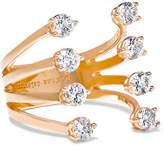 Delfina Delettrez 18-karat Rose Gold Diamond Ring - one size