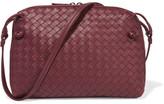 Bottega Veneta Messenger Small Intrecciato Leather Shoulder Bag - Claret